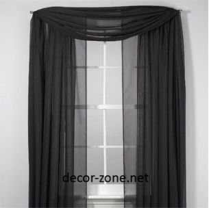 black window curtains for small living room