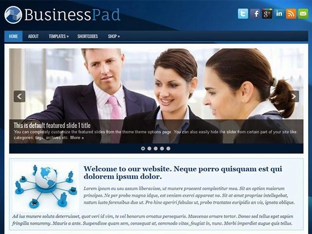 BusinessPad - Free Wordpress Theme