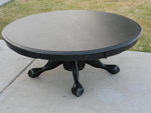 Black Shabby Chic Coffee Table  *SOLD*