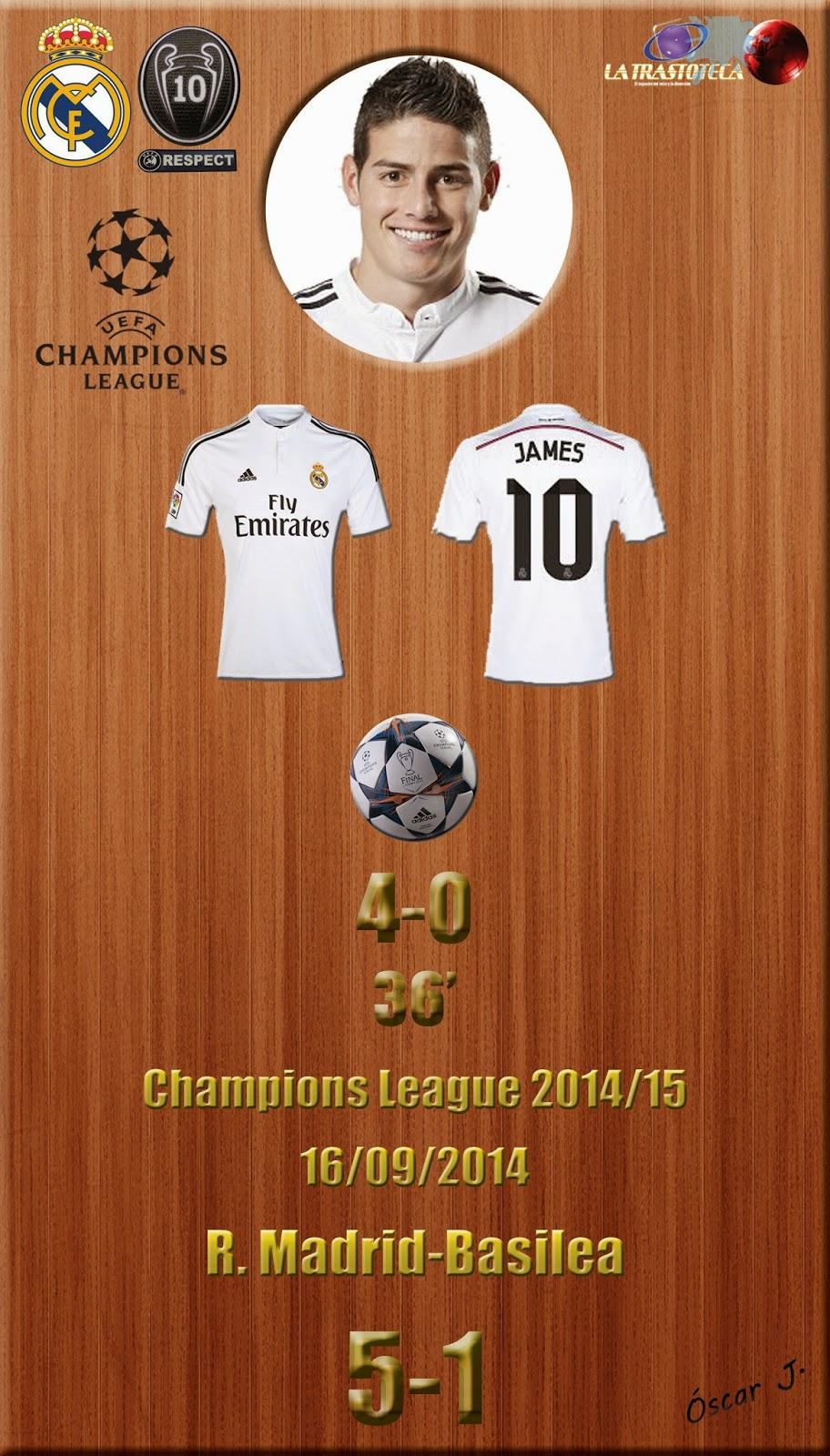 James Rodríguez (4-0) - Champions League. Jornada 1 (16/09/2014)