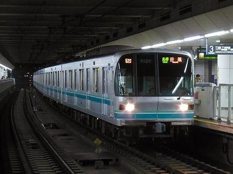 東京メトロ南北線 各停 目黒行き 9000系(終電運行)