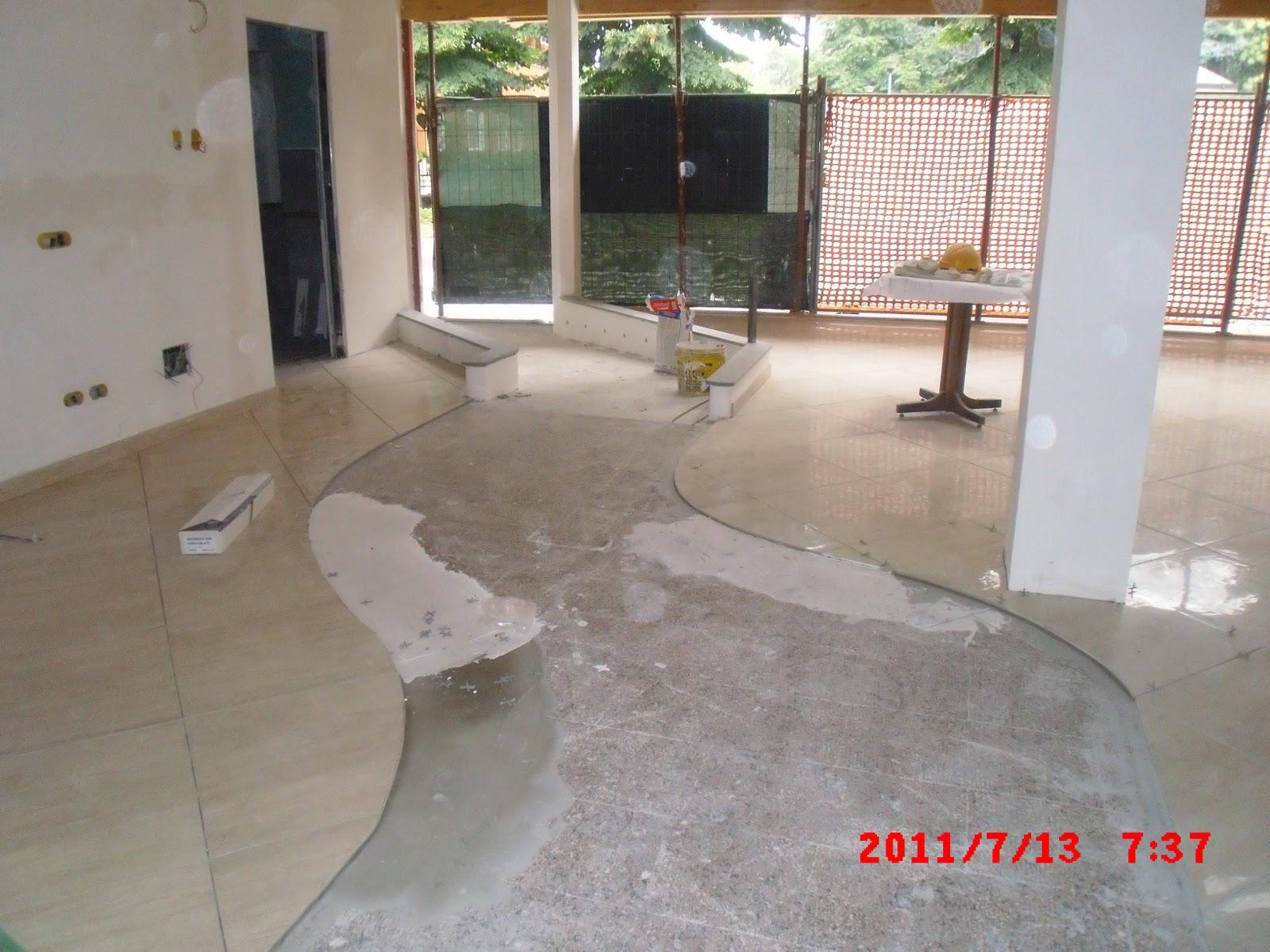 Nuovi pavimenti e rivestimenti in gres porcellanato in ristorante tl costruzioni srl - Nuovi pavimenti per interni ...