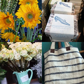 Fresh finds from flowers to Saipua Peppermint Pumice and Made in Minnesota Bags at Fleur.