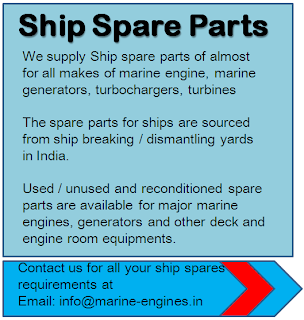 Ship Spares Used Unused Reconditioned certified quality spare parts for marine engines motors