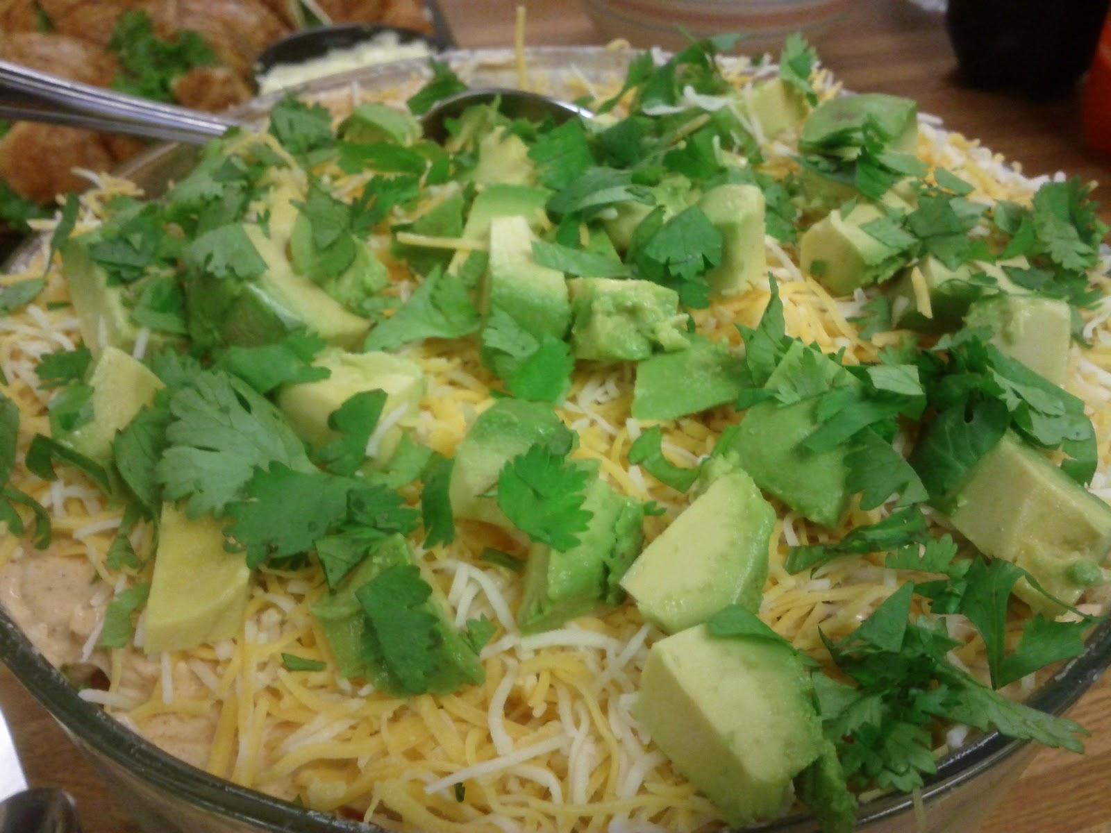 over salad refridgerate 2 hours 4 chop avocado spoon over salad ...