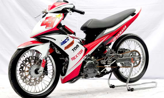 Modifikasi Motor Jupiter Mx Warna Hijau