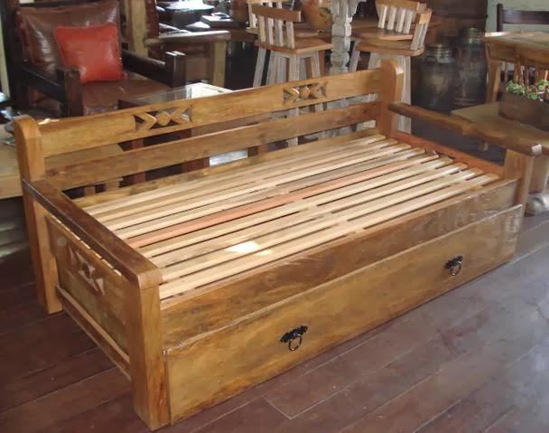 D cor m veis for Sofa cama rustico