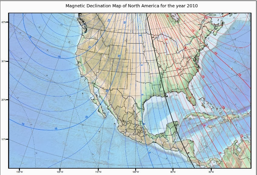 figure 4 shows a modified map that illustrates magnetic declination md from 2010 md is a phenomenon which occurs because magnetic north as measured by a