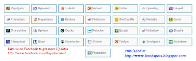 Rapidgator, Uploaded, netload, Hotfile, Uload, Cyberlocker, ifile, Cramit, Slingfile, 1Fichier, Premium Link Generator