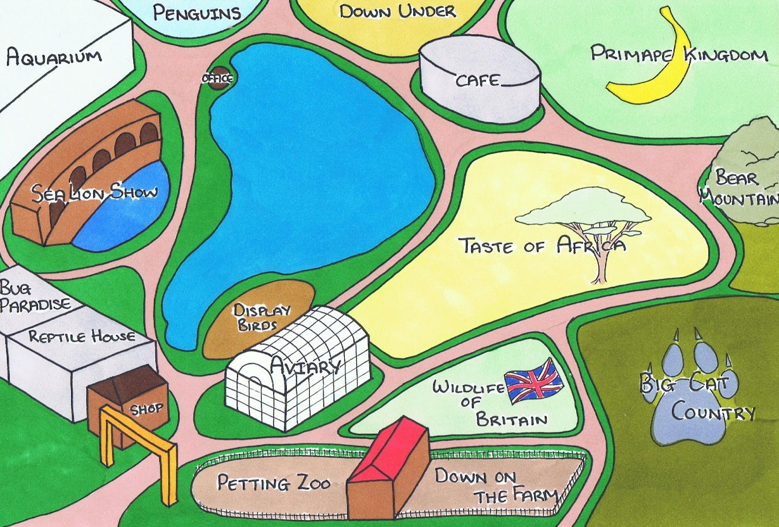 life s a zoo zoo map
