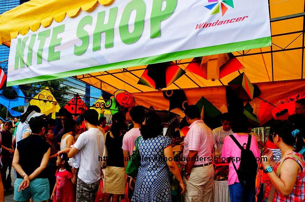 Kite shop in the Kite Festival, Singapore