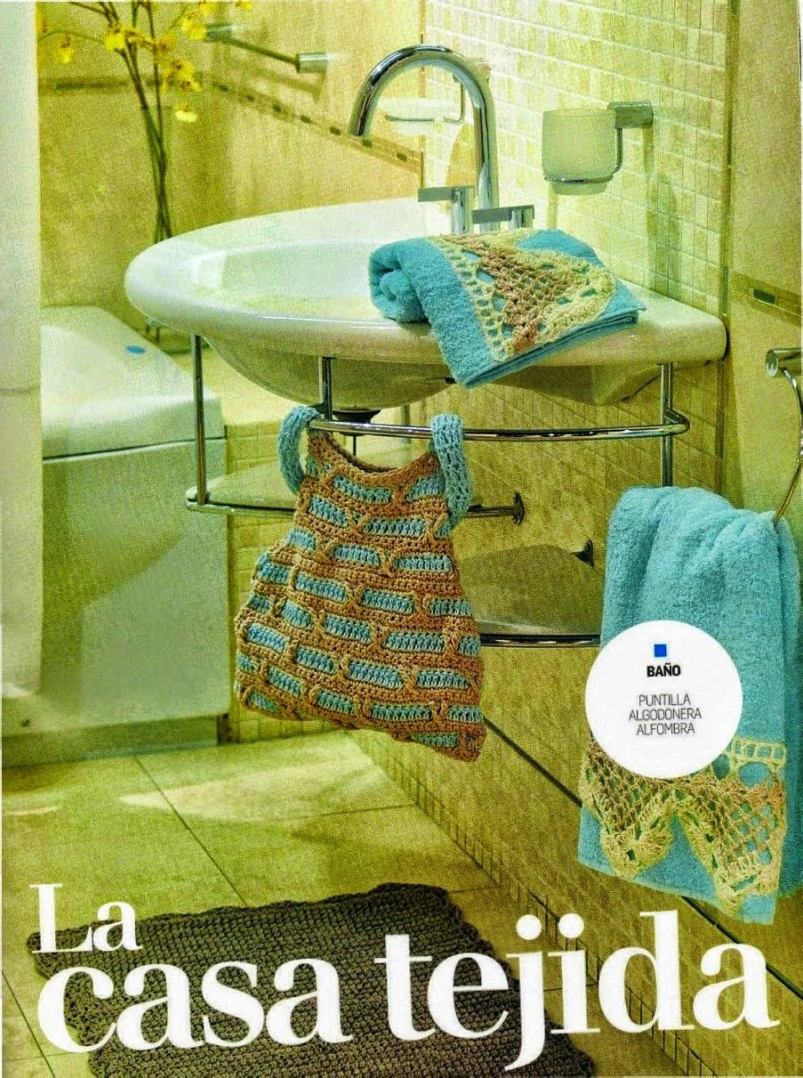Decoración al crochet para el cuarto de baño con patrones