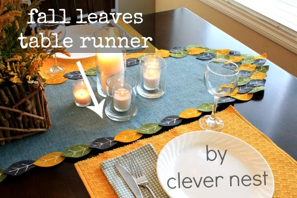 cute modern fall table runner #myclevernest #turkeytablescapes #joannfabric #grayandyellow