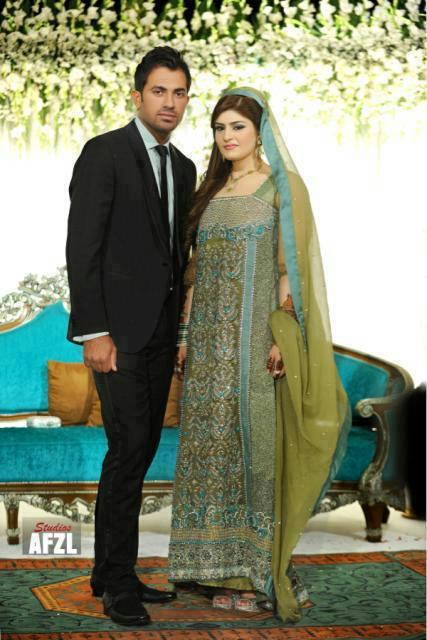 Beautiful Couple Wahab Riaz And Zainab Wahab