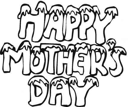 Coloring Pages Hearts on Happy Mothers Day Coloring Pages