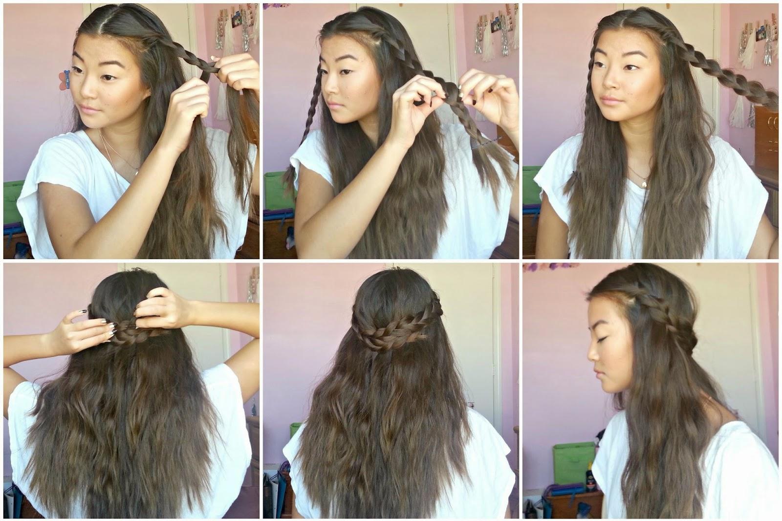 Back to school quick easy hairstyles truly leesh double braids urmus Gallery
