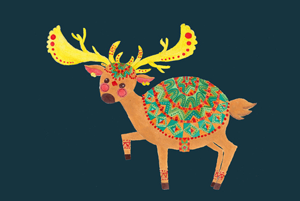 The Ethnic Deer Illustration by Haidi Shabrina