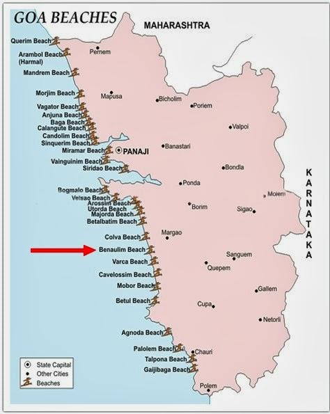 Benaulim Beach Goa India Location Map,Location Map of Benaulim Beach Goa India,Benaulim Beach Goa accommodation destinations attractions hotels resorts map photos reviews,benaulim beach resorts huts south goa