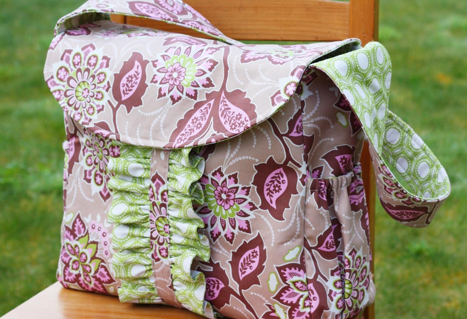 lola bea diaper bag pattern sew much ado. Black Bedroom Furniture Sets. Home Design Ideas