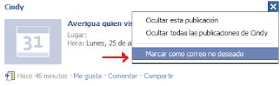 Spamm en Facebook