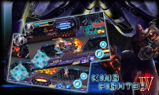 Screenshots of the King Fighter IV for Android tablet, phone.