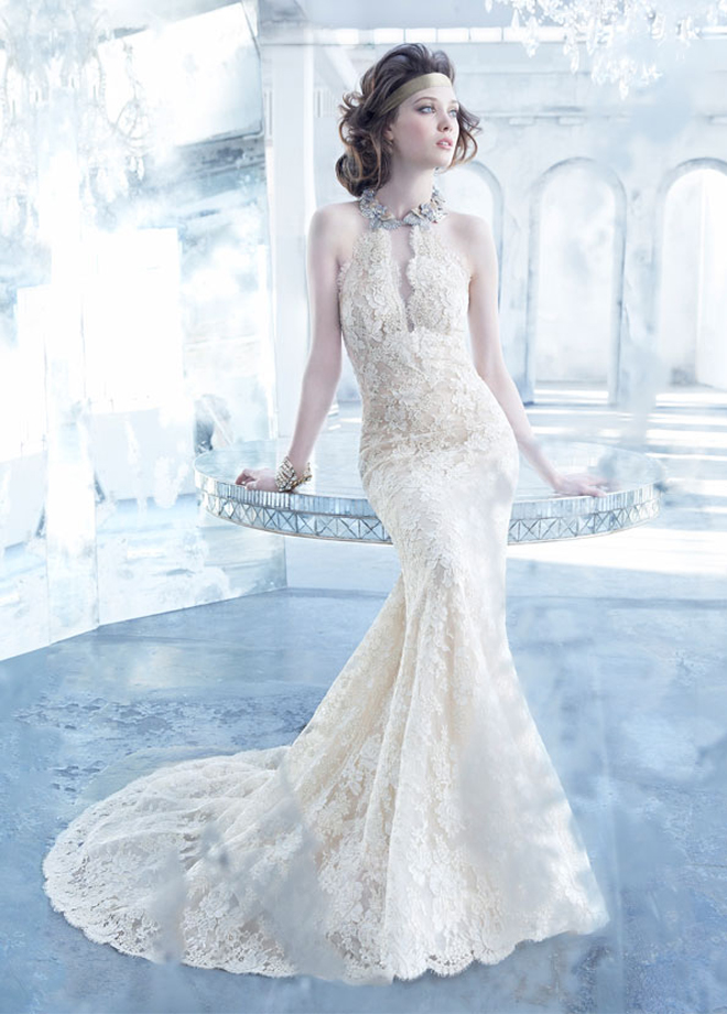 Lazaro fall 2013 bridal gown collection belle the magazine for Lazaro lace wedding dress