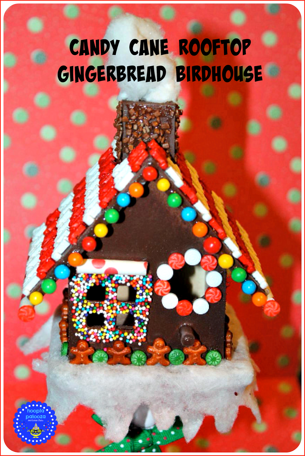 Candy Cane Rooftop Gingerbread Birdhouses
