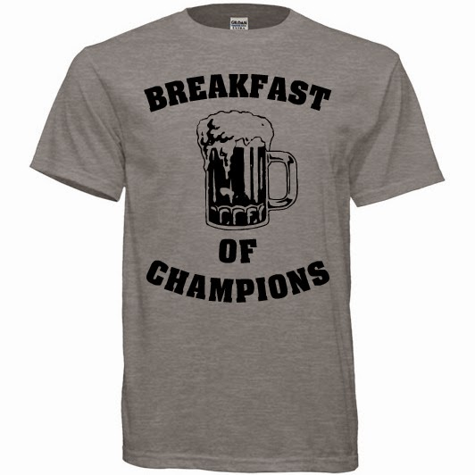 Breakfast of Champions Funny Beer Unisex Sports Grey T-Shirt