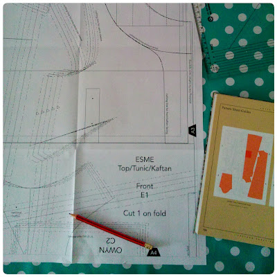Drafting the pattern for Esme Tunic