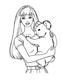 Breathtaking image in printable barbie coloring pages