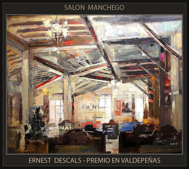 PREMIOS-PINTURA-VALDEPEÑAS-LA MANCHA-CONCURSOS-SALON MANCHEGO-CUADROS-INTERIORES-PINTOR-ERNEST DESCALS