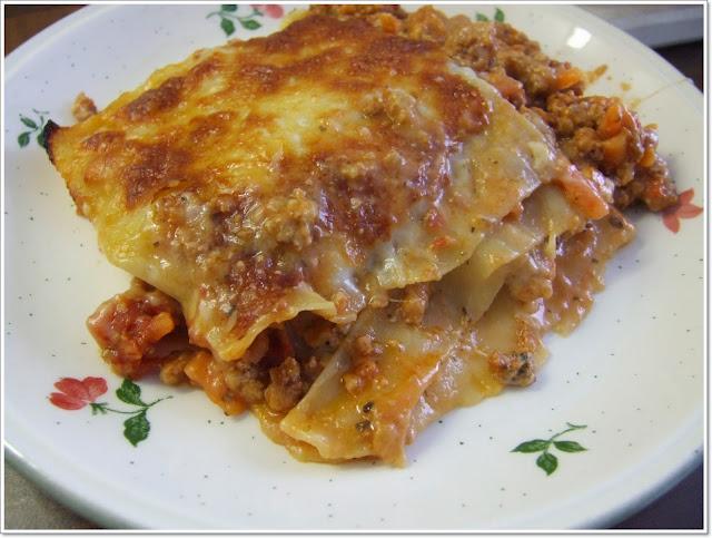 recept na pravé italské lasagne