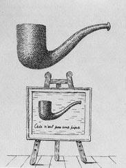 Isto não é um cachimbo, de Rene Magritte