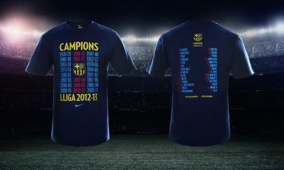 FC Barcelona camiseta conmemorativa Campeones de Liga 2012-2013