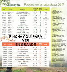 PASEOS EN LA NATURALEZA 2017