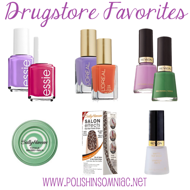 polish insomniac's favorite Drugstore Nail Products