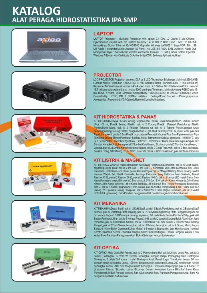 Alat Peraga Hidrostatistika Ipa Smp Bandung4sale