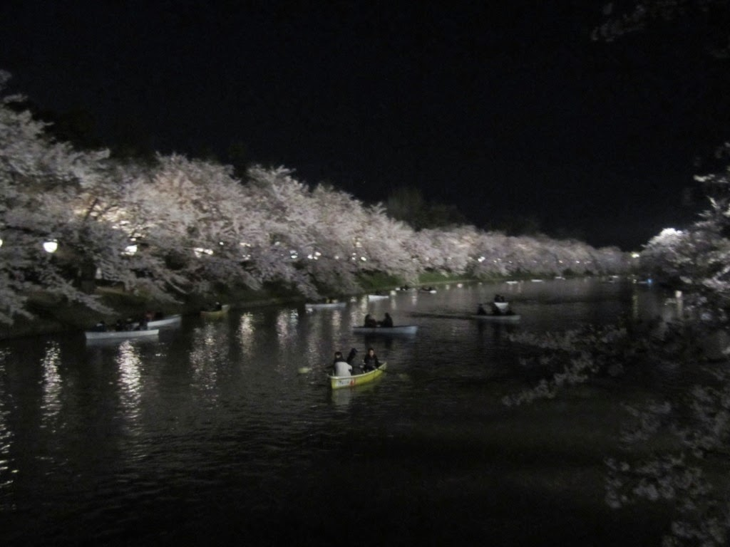 Hirosaki Castle Park West Moat at Night 弘前公園 夜の西濠