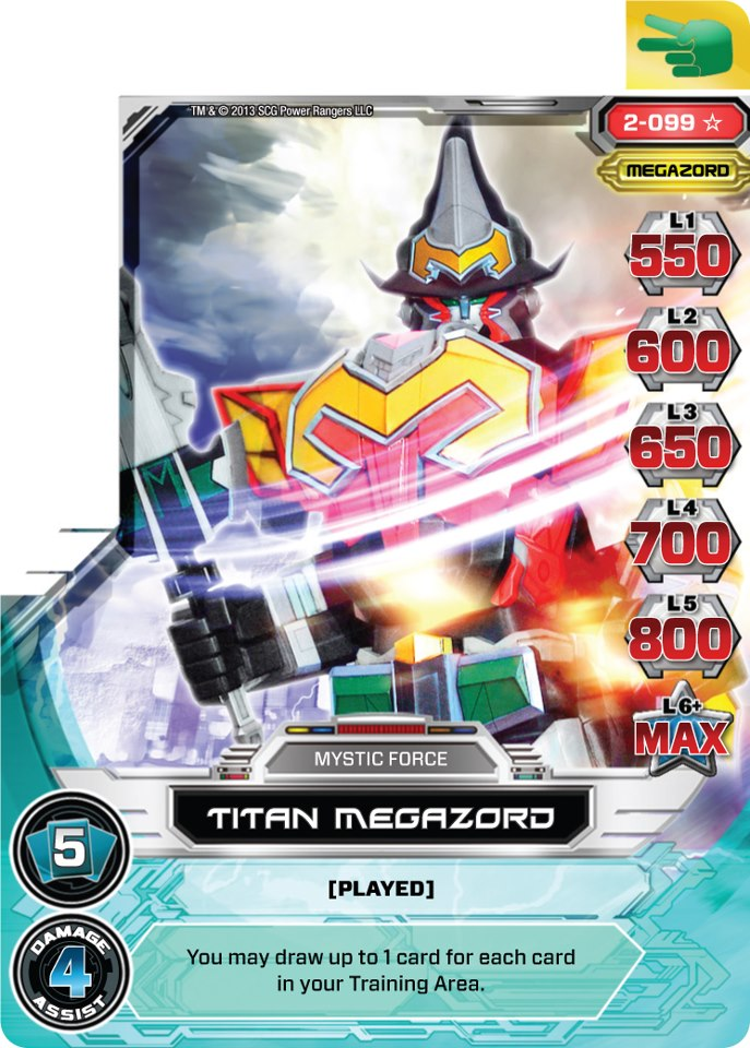 how to play power rangers megaforce card game