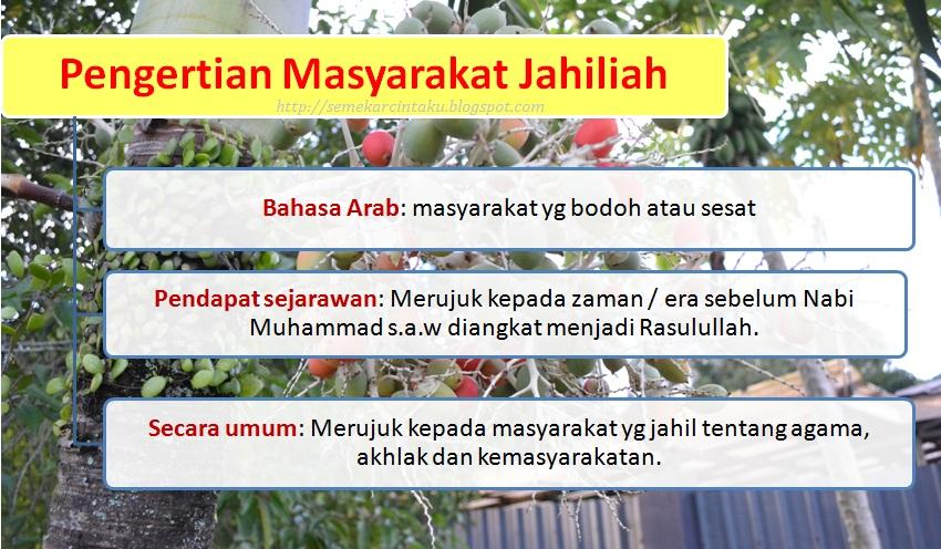Blog Sejarah STPM Baharu: Semekar Cintaku : Masyarakat Arab Jahiliah