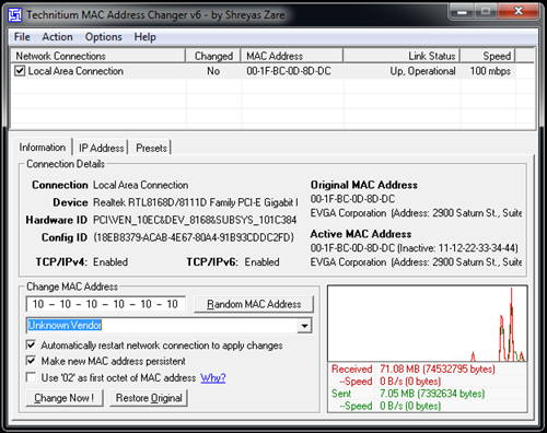 Cara mengganti Mac Address - Technitium MAC Address Changer