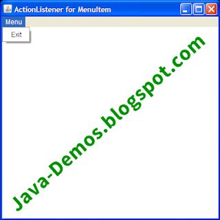 Using ActionListener for AWT MenuItem