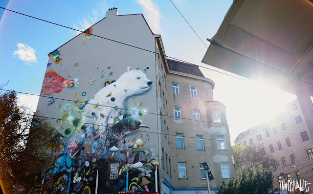 Street Art Collaboration By Collin Van Der Sluijs and Rutger In Vienna, Austria. Organised by Inoperable. 1