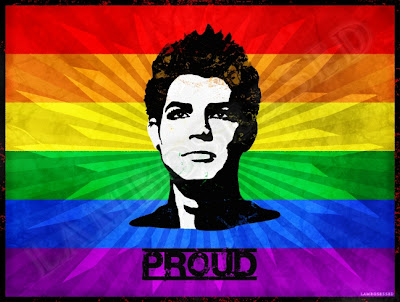 Proud Adam Lambert Rainbow Pride Flag T-shirt design