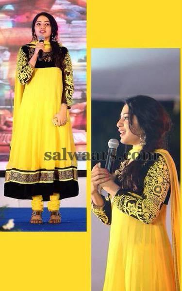 Ramya Yellow Black Churidar