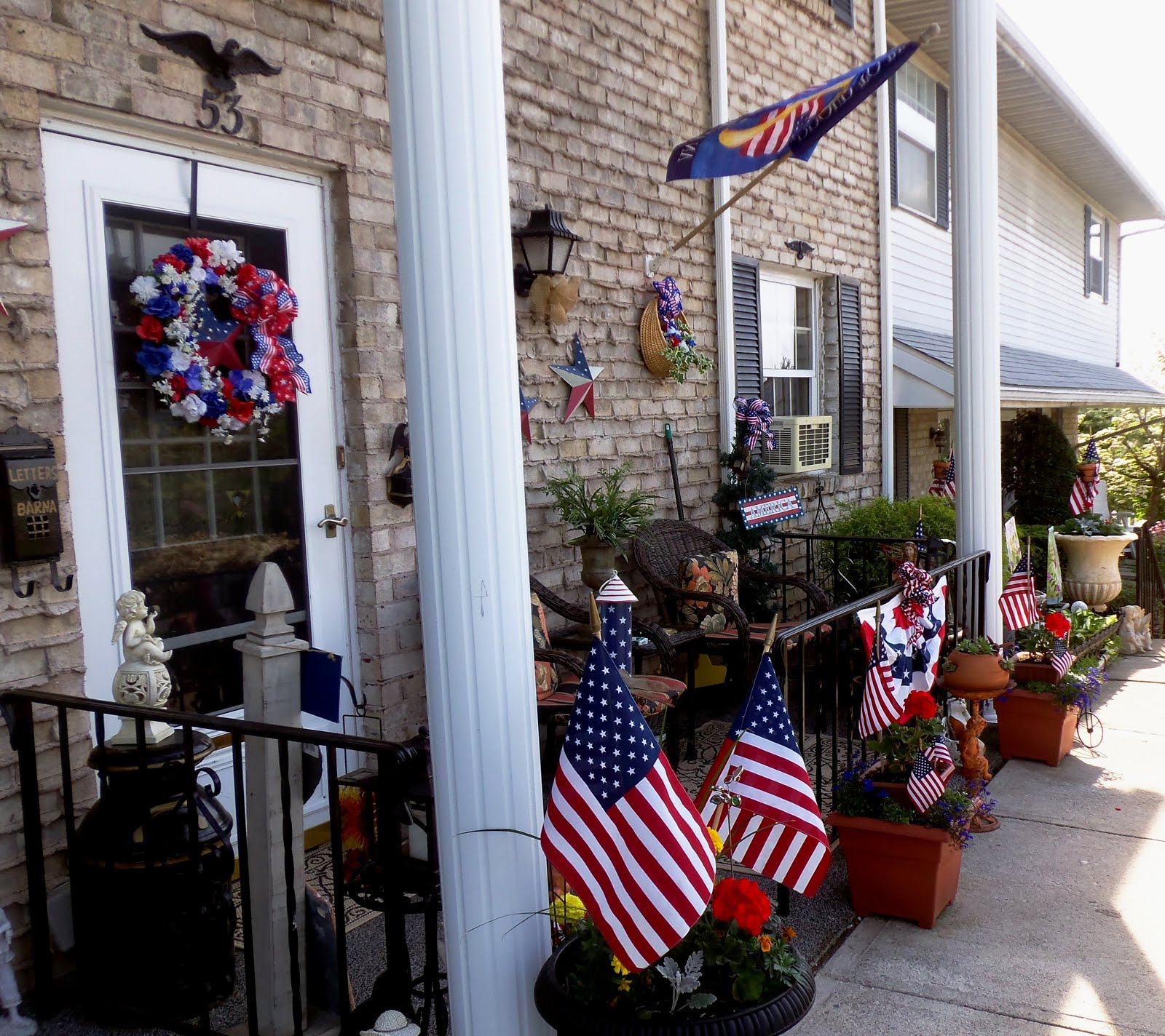 Memorial Day Front Porch 2015
