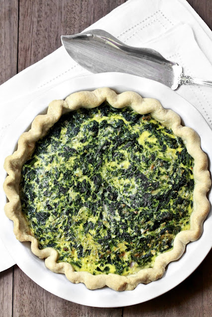 Epicurean Mom: Spinach, Gruyere and Gouda Quiche