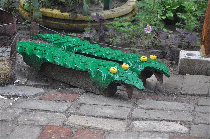 Gran idea para decorar un parque infantil o un jard n con for Para desarrollar un parque ajardinado