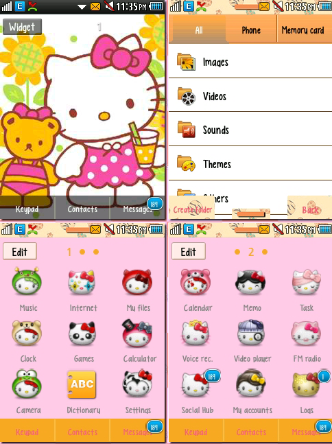 CORBY 2 THEMES: Hello Kitty Theme by CuteCorby