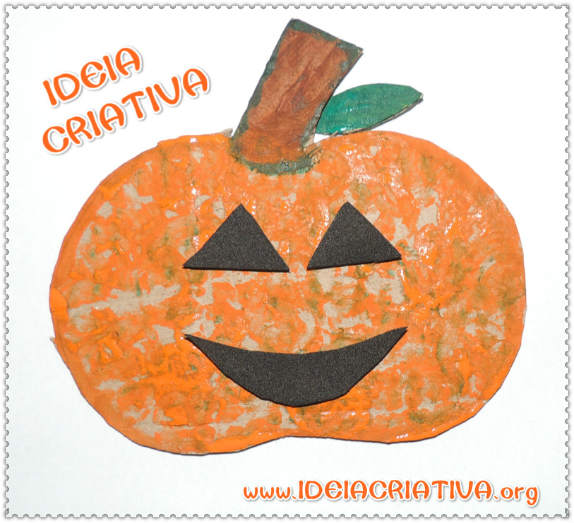 Atividade Halloween Abóbora de Papelão
